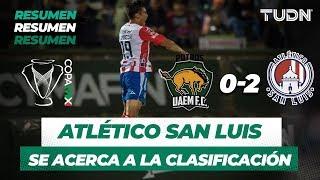 Resumen y Goles UAEM 0 - 2 Atlético San Luis | Copa MX - Apertura 2019 - Jornada 4 | TUDN