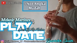 Not Angka PLAY DATE melanie martinez   Recorder Cover