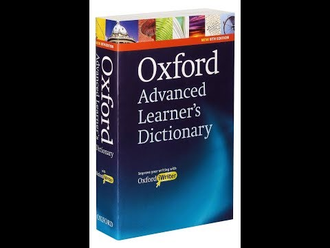 STUDENTS MUST READ-Oxford Advance Learner's DICTIONARY