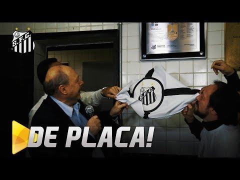 CAMPEÕES DA CONMEBOL DE 98 GANHAM PLACA NA VILA BELMIRO