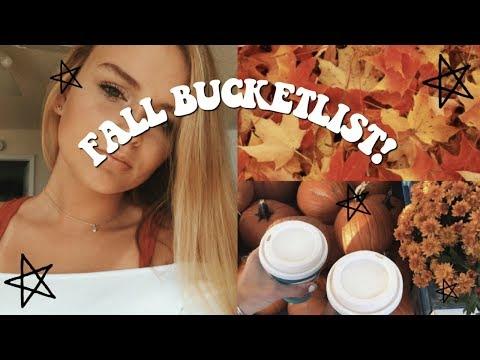 FALL BUCKETLIST!   Fall inspiration 2018!