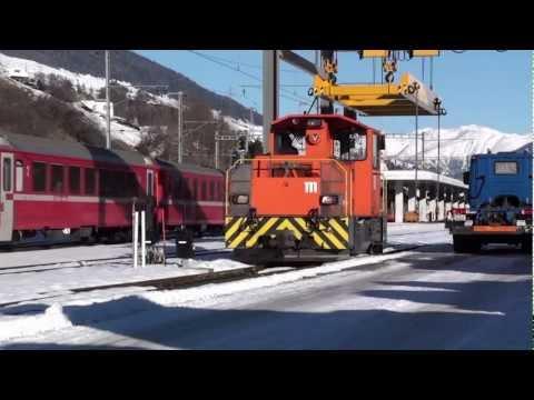 Die Rhätische Bahn in Scuol-Tarasp Januar 2011