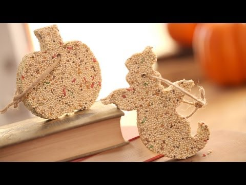 How to Make Halloween Birdseed Ornaments || KIN PARENTS