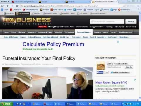 Burial Insurance For Elderly Plan