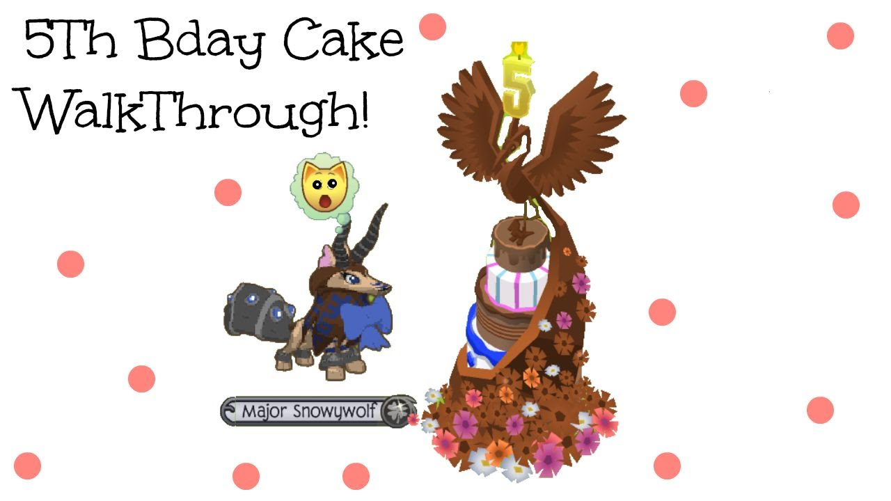 Animal Jam 5th Birthday Cake Walk Through YouTube