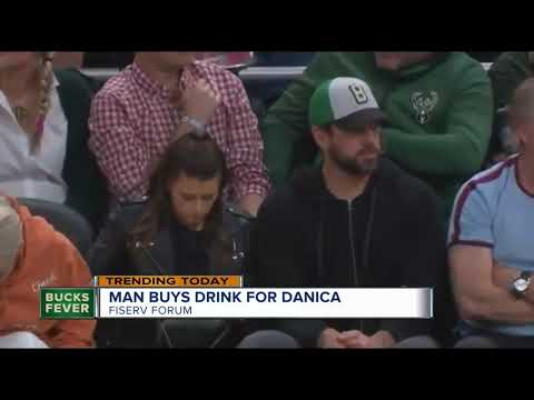 Hooker, DB and Becka - Guy Buys Danica Patrick A Drink In front Of Aaron Rogers