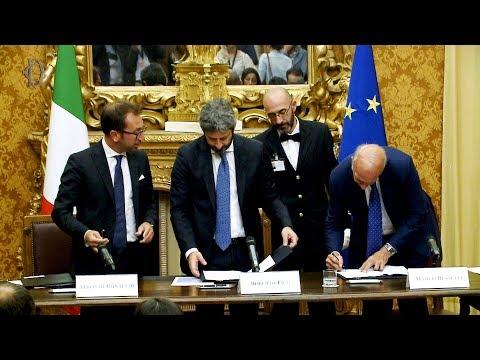 """Fico, Bonafede e Bussetti firmano il protocollo """"Percorsi di cittadinanza'"""
