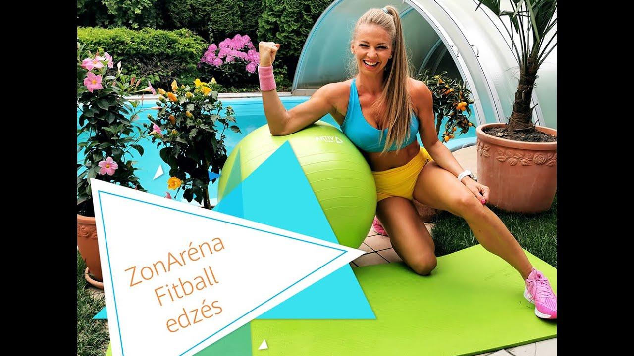 Péntek Enikő - ZonAréna online - Fitball edzés