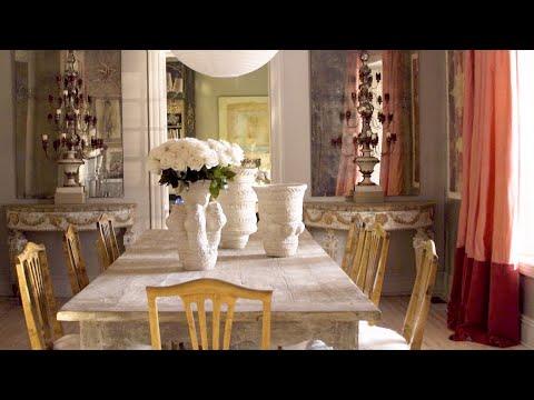 Janie Molsteru0027s Dining Room Is VERY Pink   1 Room, 5 Stories  House  Beautiful