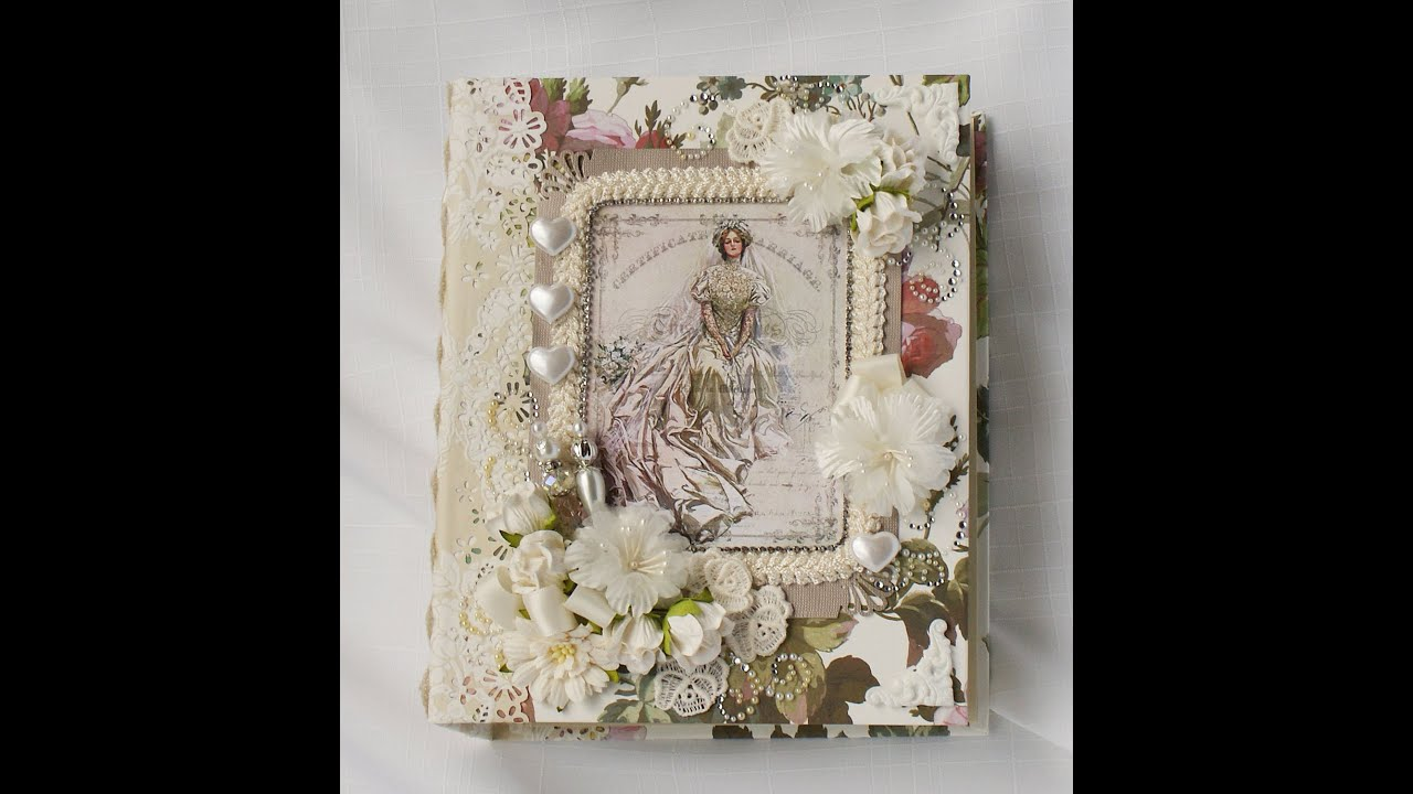 Wedding Handmade Chipboard Scrapbook Photo Album