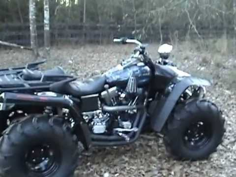 harley 4 wheeler - youtube