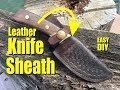 How to easily make a Fold Over Leather Knife Sheath with Celtic Basket Weave pattern