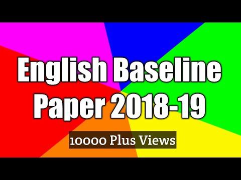 Baseline Paper English 2018-19