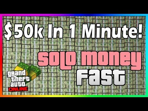 *NEW* HOW TO MAKE $50,000 IN 1 MINUTE SOLO! - GTA ONLINE FAST & EASY MONEY GUIDE 1.46 (GTA V Money)