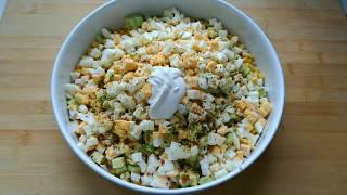 Салат с авокадо за 5 минут.  Домашняя кухня. Вкусно, просто, быстро!
