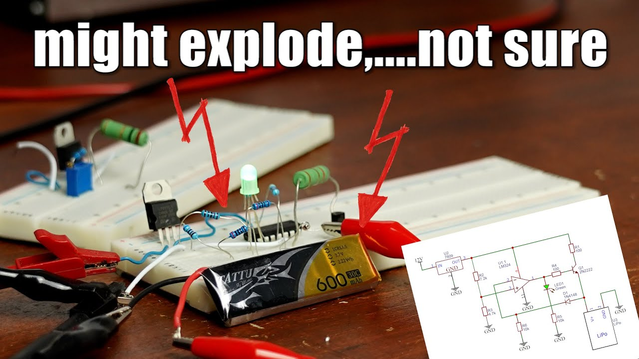 Testing questionable LiPo Battery Charger Schematics I found on the internet!