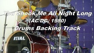 You Shook Me All Night Long Drums Backing Track Pista Batería