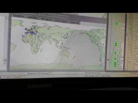 A25UK, Botswana AFRICA, 18MHz, CW, Worked by HL2WA