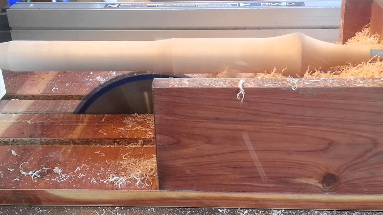 Simple Jig Turns A Tablesaw Into A Lathe Youtube