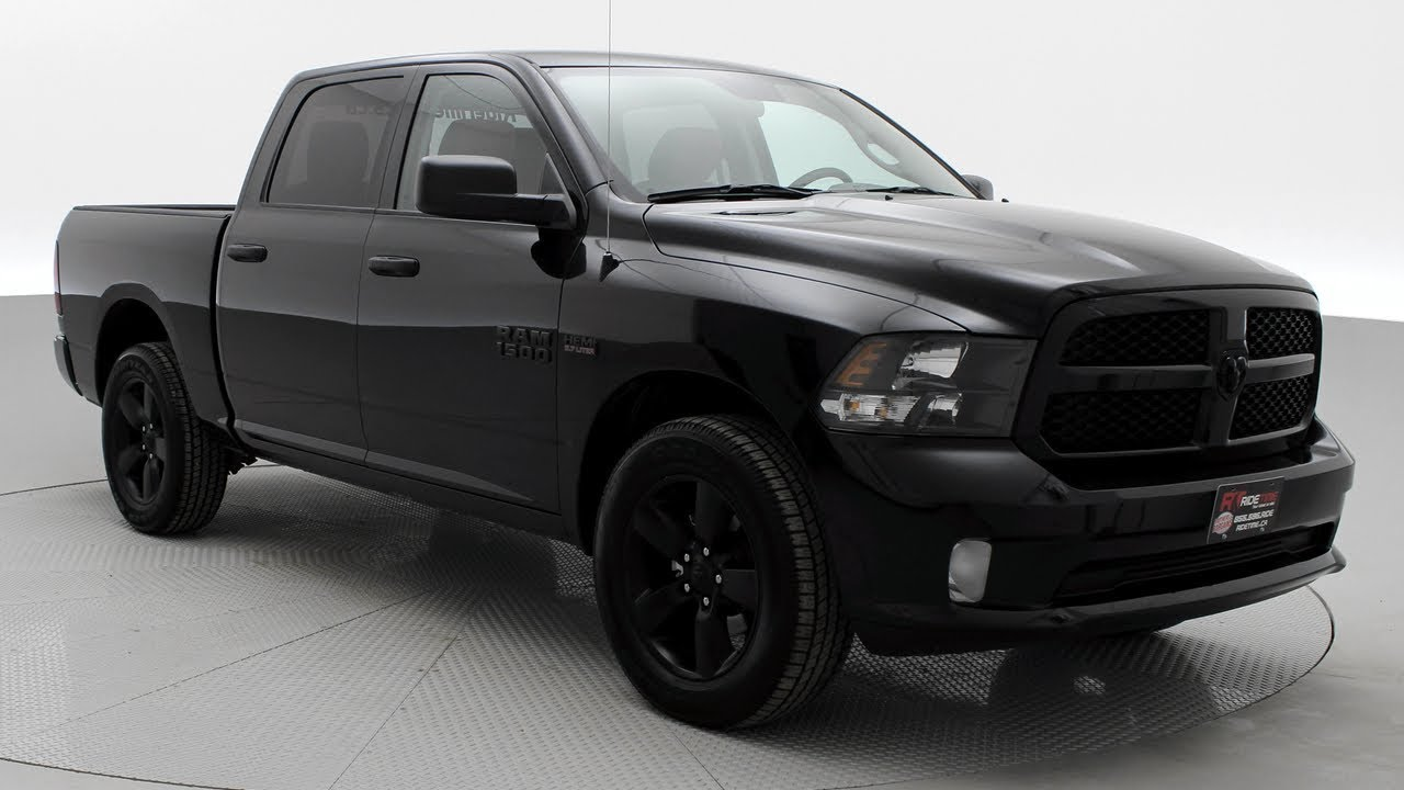 Blacked Out Ram >> 2018 Ram 1500 Express Blackout 4wd Crew Cab Hemi Leather 3 92 Gearing Ridetime Ca