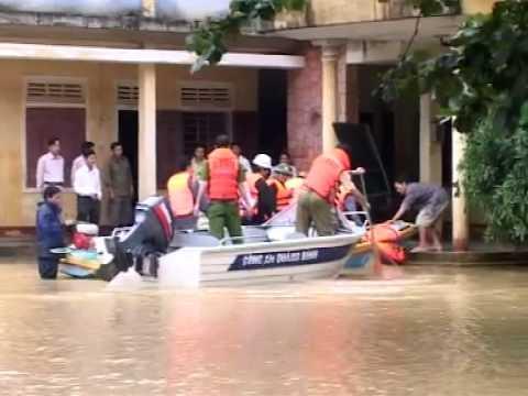 Quảng Bình  2 Huyện Quảng Ninh và Lệ Thủy với cơn lũ ngày 17/10(CVTV)
