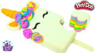 Ice Cream Popsicle Unicorn Hair Rainbow Cake Play Doh Food Creations  Play Doh Videos Castle Toys