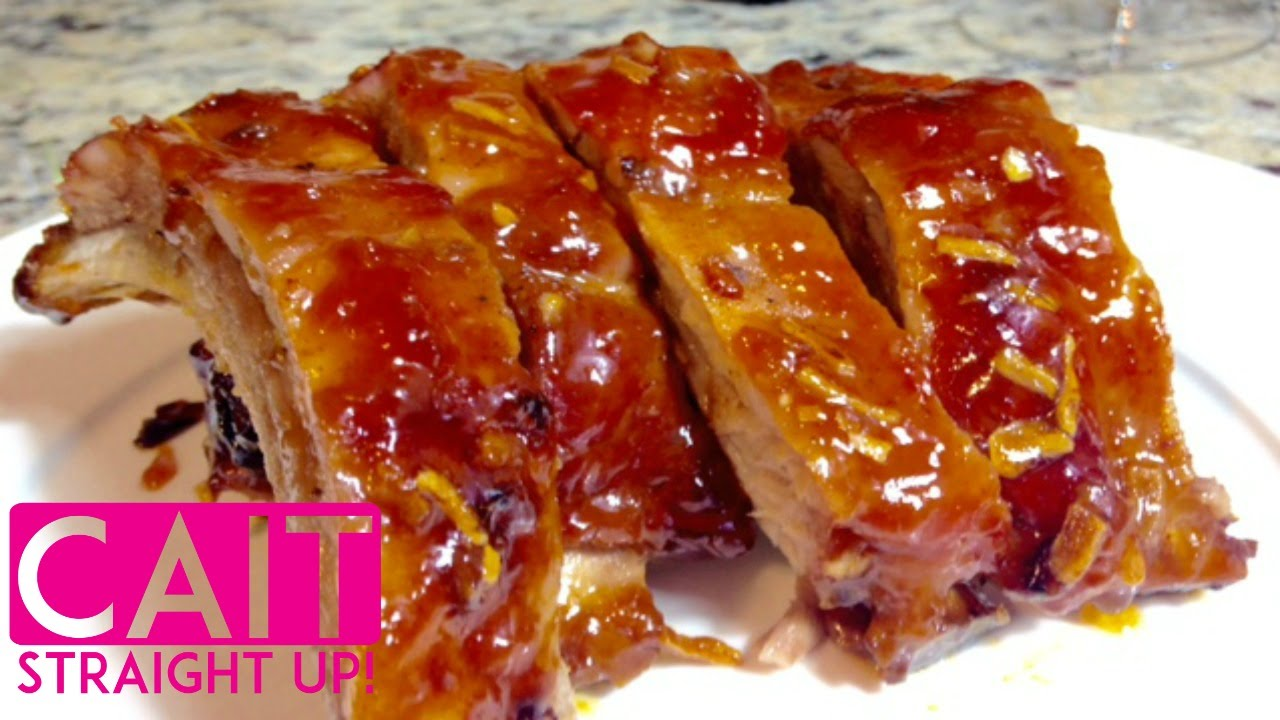 Simple Pork Ribs Recipe Three Ingredient Marinade Cait Straight Up