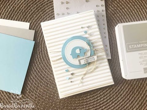 Clean and Simple Karte zur Taufe mit Stampin' Up!