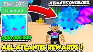 I BOUGHT ALL 200 ATLANTIS REWARD Slots AND GOT THE TIER 200 PET IN BUBBLE GUM SIMULATOR! (Roblox)