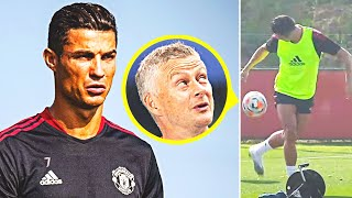 RONALDO'S FIRST DAY AT MANCHESTER UNITED after his return! CRISTIANO SURPRISED everyone in the club!