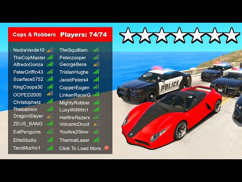 The Largest GTA Cops & Robbers Server I've Ever Seen..