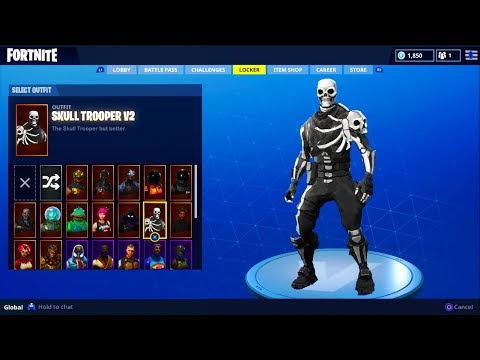*NEW* SKULL TROOPER V2 SKIN UPDATE In Fortnite! - Fortnite Battle Royale Skull Trooper Skin RETURNS