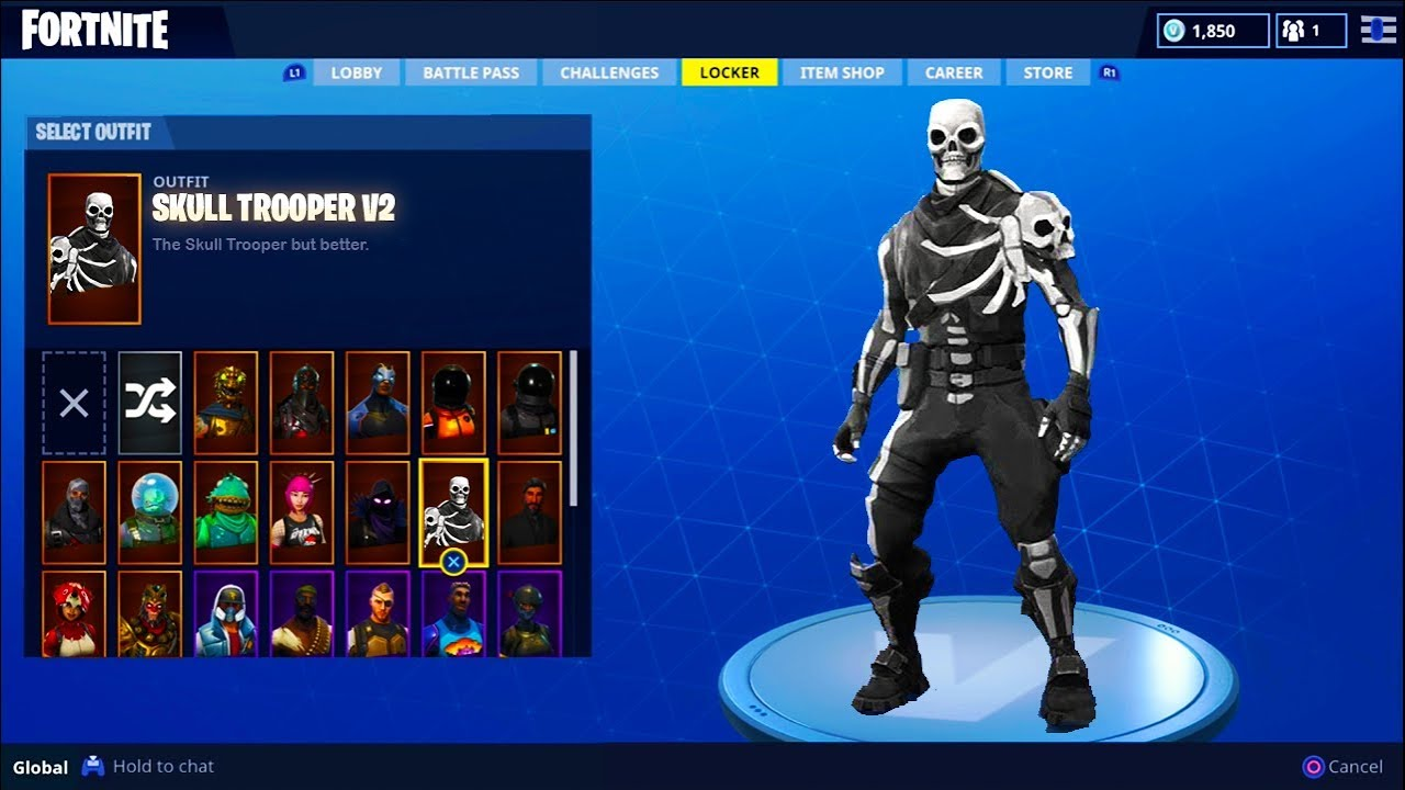 New Skull Trooper V2 Skin Update In Fortnite Fortnite Battle