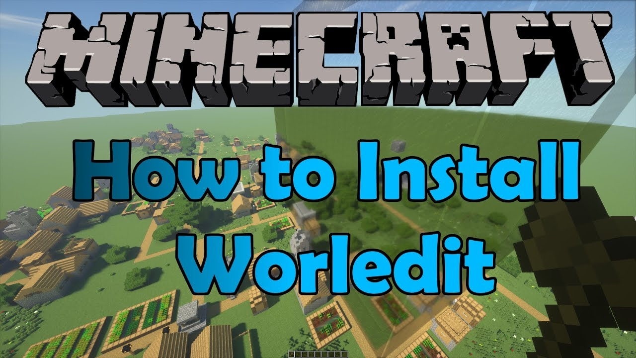 how to install minecraft world edit