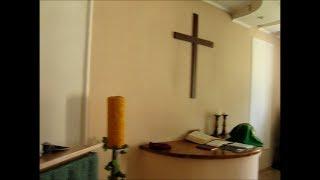 Богослужение и причастие в немецкой евангелическо - лютеранской церкви.  Украина, г  Полтава