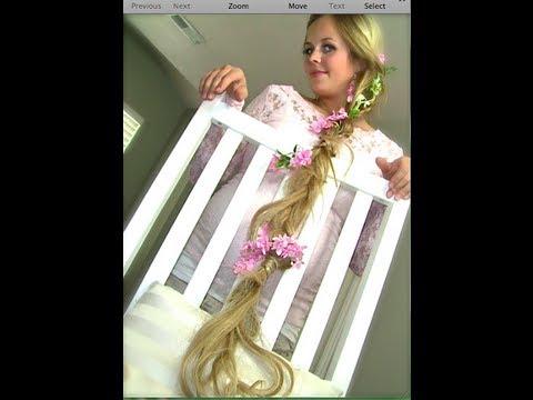Rapunzel Tangled Braided Hair Tutorial For Halloween I Naturesknockout Com Youtube