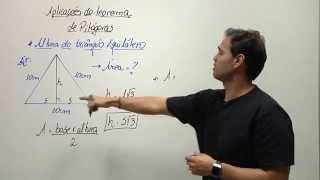 Minuto Saber (Prof. Xanchão) - Teorema de pitágoras | Altura do triângulo equilátero (exercicio)