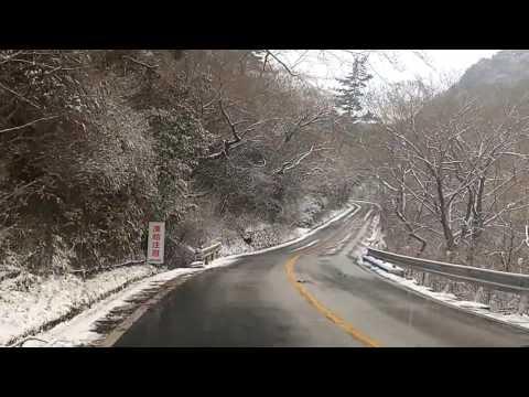 Snow in Japan. Снег в Японии, гора Рокко.