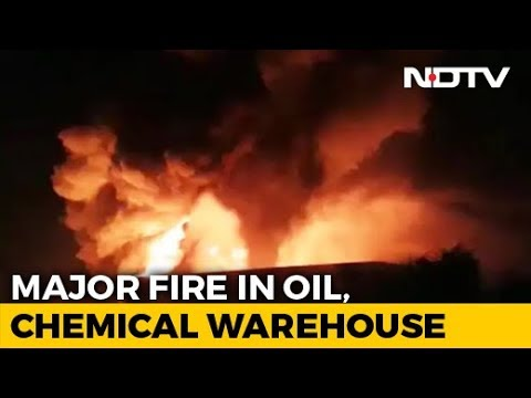 Hundreds Of Oil Drums Catch Fire At Warehouse In Greater Noida