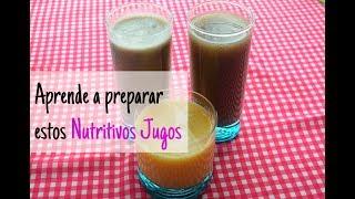 ¿Como preparar jugo de Borojo y de Maracuya?