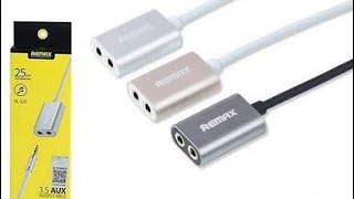 Download Video Remax Audio Splitter 3.5mm Aux dari 1 menjadi 2 MP3 3GP MP4