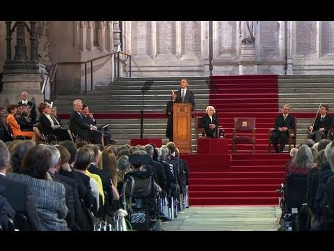 President Obama Addresses the British Parliament