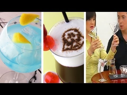 Gin Lemon Blue + Darth Vader + Guinda: Copas de cocktail