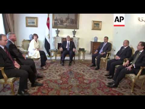 EU's foreign policy chief meets Egyptian foreign minister