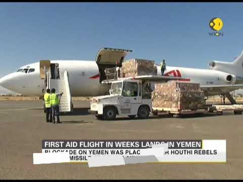 First aid flight in weeks lands in Yemen