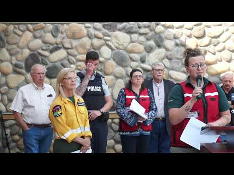 Sept  12, 2017 afternoon wildfire press conference in Pincher Creek