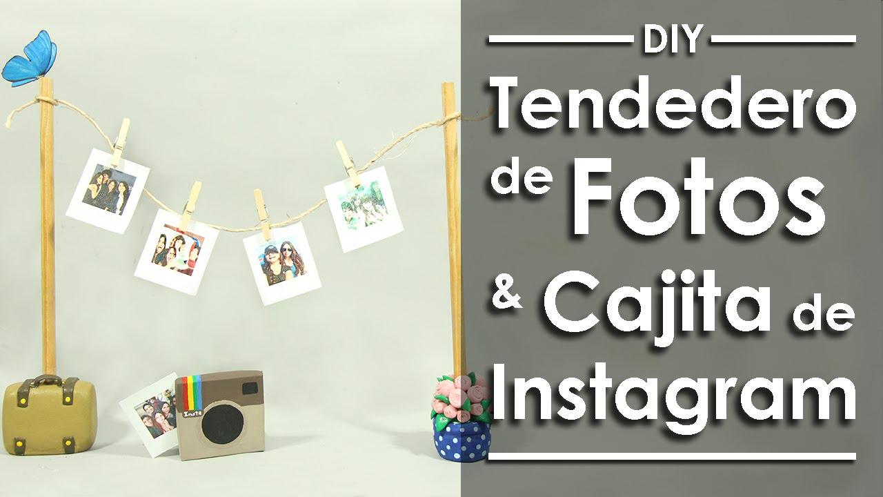 ahorrar atarse en volumen grande Mini tendedero de Fotos -DIY