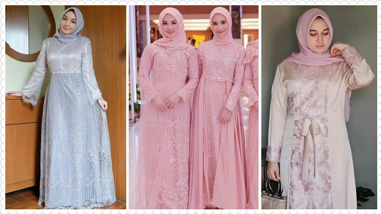 9 Model Baju Gamis Brokat Pesta Muslim Terbaru 209/9
