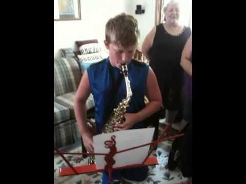 Josh Plays Happy B-Day On Sax For Aunt Cathy's 50th