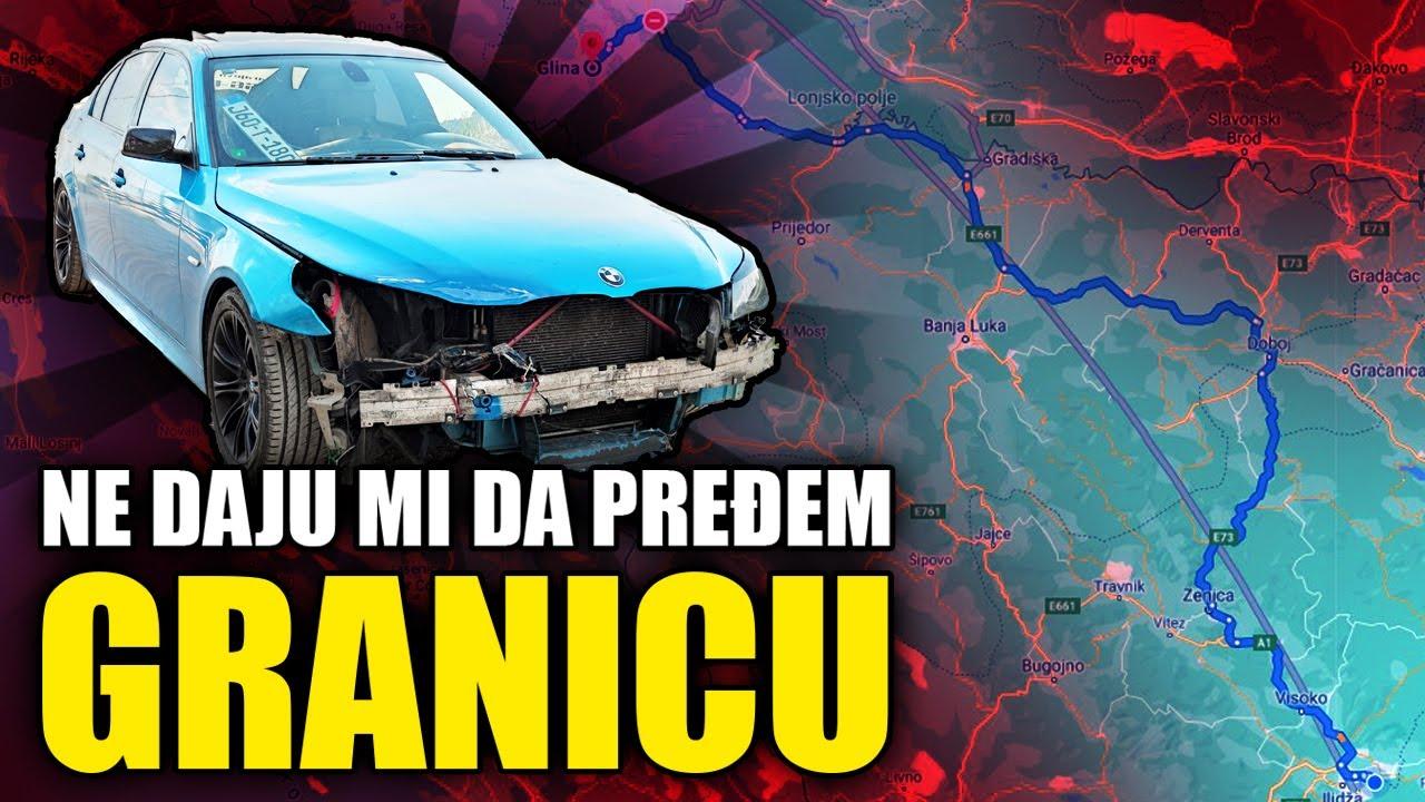 TRANSPORT RAZBIJENOG BMW-a iz HR u BiH *kazna*❌